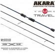 Спиннинг штекерный углепластик 4 колена Akara Teuri Travel UL (0,5-6) 2,28 м