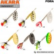 Блесна вращающаяся Akara Tournament Series Fora 1 5 гр. 3/17 oz. A40