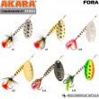 Блесна вращающаяся Akara Tournament Series Fora 1 5 гр. 3/17 oz. A39