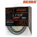 Шнур Akara Ultra Light Competition Green 150 м 0,06