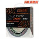 Шнур Akara Ultra Light Competition Green 150 м 0,10