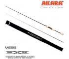 Спиннинг штекерный углепластик 2 колена Akara Trout E.L Sport UL (0,5-4,5) 1,98 м с разнесенной ручкой