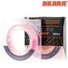 Шнур Akara Ultra Light Pink 100 м 0,10