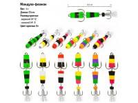 Мандула-флажок mod.11 оранжевый-фиолетовый-зелёный
