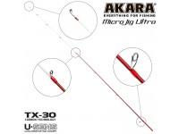 Хлыст углепластик для спиннинга Akara SL1004 Micro Jig Ultra 762UL-S TX-30 (0,5-6) 2,3 м