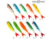 Рыбка поролон F2F перф. с двойником и чебурашкой 11см цвет № 2 (5шт.)