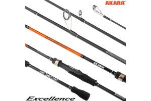 Спиннинг штекерный углепластик 2 колена Akara Excellence M 902 (6-28) 2, 7 м