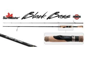 Спиннинг штекерный углепластик 2 колена S Master K1229 Black Bass Spin S-702MLMF TX-20 (7-21гр.) 2, 13 м