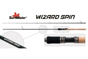 Спиннинг штекерный углепластик 2 колена S Master SP1122 Wizard Spin 762MHF HMC (7-21) 2, 28 м