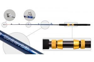 Спиннинг штекерный стеклопластик 2 колена S Master 3053 Commander (300-700) 1, 98 м под стакан с роликами