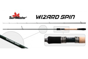Спиннинг штекерный углепластик 2 колена S Master SP1120 Wizard Spin 662MLF HMC (2, 8-10, 5) 1, 98 м