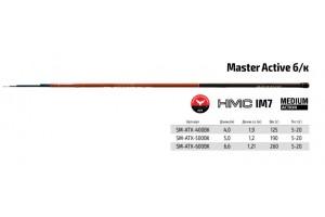 Удилище телескопическое углепластик д/с S Master Active TX-20 6, 0 м б/к