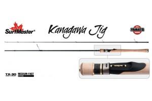 Спиннинг штекерный углепластик 2 колена S Master YS5008 Yamato Series Kanagawa Jig TX-30 (7-18) 2, 25 м