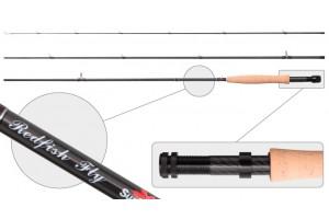 Удилище Нахлыстовое штекерное углепластик 3 колена S Master 3091 Red Fish Fly 4/5 class 2, 74 м