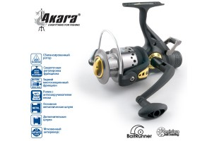 Катушка безынерционная Akara Diablo Carp 3000А 3+1bb зап. шпуля с байтранером