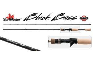 Спиннинг штекерный углепластик 2 колена S Master K1227 Black Bass Cast C-642MLM TX-20 (7-21гр.) 1, 95 м с курком