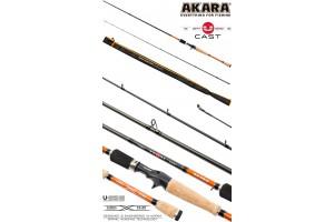 Спиннинг штекерный углепластик 2 колена Akara Teuri Cast 762H (17, 5-49) 2, 28 м