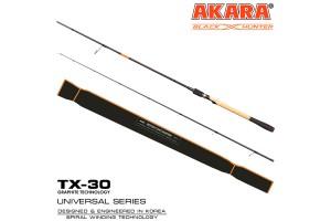Спиннинг штекерный углепластик 2 колена Akara Black Hunter (12-37) MH862 2, 6 м