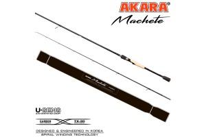 Спиннинг штекерный углепластик 2 колена Akara Machete H802 (21-62) 2, 4 м