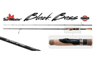 Спиннинг штекерный углепластик 2 колена S Master K1229 Black Bass Spin S-642LM TX-20 (4-12гр.) 1, 93 м