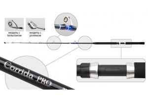 Спиннинг штекерный углепластик 2 колена S Master 3055 Corrida Pro IM6 (300-500) 2, 15 м с роликом