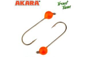 Джиг. головка Akara Trout Time Шар вольфрам 1, 0 г. 4, 6 мм. кр. № 6 Orange (3шт)