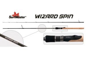 Спиннинг штекерный углепластик 2 колена S Master SP1121 Wizard Spin 842MF HMC (5, 5-17, 5) 2, 54 м