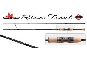 Спиннинг штекерный углепластик 2 колена S Master K1225 River Trout S-562ULM TX-20 (0, 5-5, 6гр.) 1, 68 м