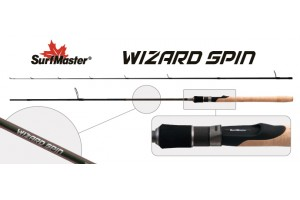 Спиннинг штекерный углепластик 2 колена S Master SP1121 Wizard Spin 902MF HMC (5, 5-17, 5) 2, 74 м